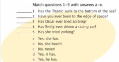Interactive worksheet I've never done that!