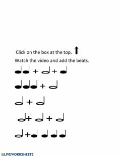 Interactive worksheet Add the Beats