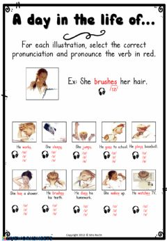 Interactive worksheet Daily Routine Pronunciation