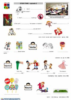 Interactive worksheet Story Time (2) - Listen to the vocab