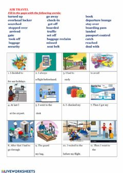 Interactive worksheet Air travel