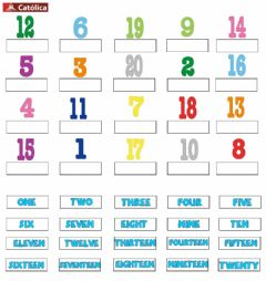 Ficha interactiva Numbers from 1 to 20