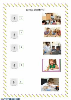 Interactive worksheet What are you doing? Listen and match.
