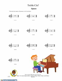 Interactive worksheet Treble Clef 2