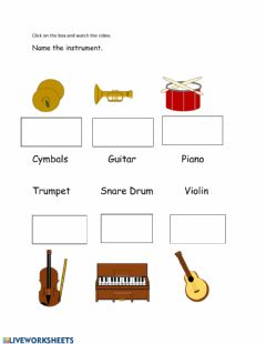 Interactive worksheet Instrument Lesson