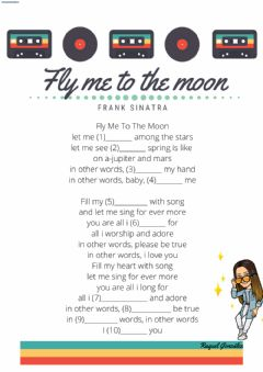 Interactive worksheet Fly me to the moon- Frank Sinatra