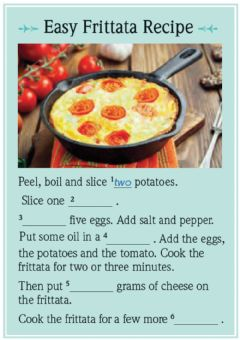 Interactive worksheet Listen and complete the recipe