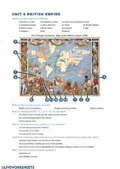 Ficha interactiva British empire page 7