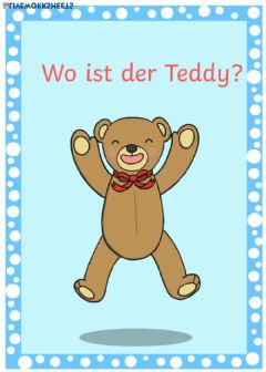 Interactive worksheet Wo ist der Teddy?