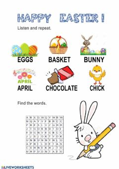 Interactive worksheet Happy easter