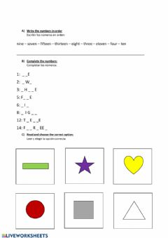 Interactive worksheet Activities 30-03