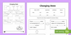 Interactive worksheet Changes of state