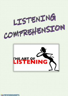 Ficha interactiva Listening comprehension cover