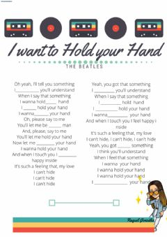 Interactive worksheet I wanna hold your hand, The Beatles
