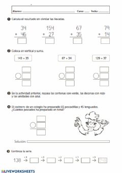 Interactive worksheet Repaso numeración