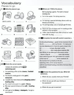 Interactive worksheet Vocabulary: places to go