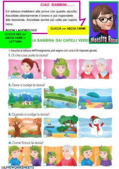 Interactive worksheet Ascolto facilitato