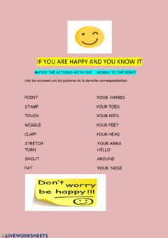 Interactive worksheet If you are happy