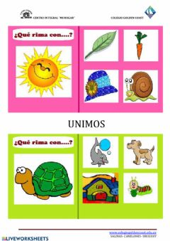 Interactive worksheet Que rima con ... (2)