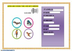 Ficha interactiva listen and guess