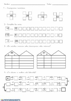 Interactive worksheet Ficha 1 numeración