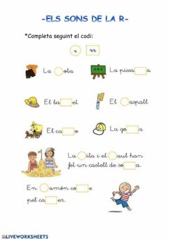 Interactive worksheet Els sons de la r