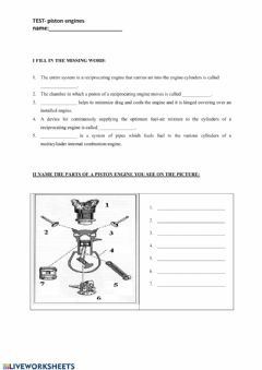 Interactive worksheet Piston Engines