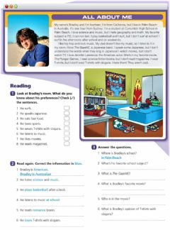 Interactive worksheet Reading - All about me
