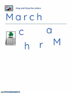 Interactive worksheet Month . March