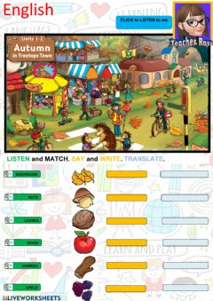 Interactive worksheet Autumn