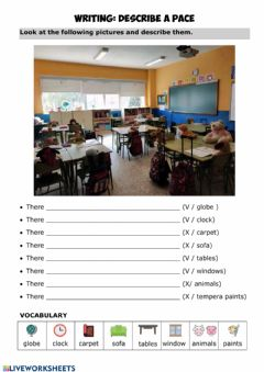 Interactive worksheet Place description