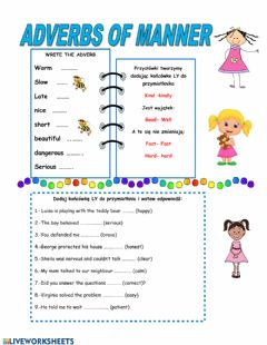 Interactive worksheet Sdverbs of manner