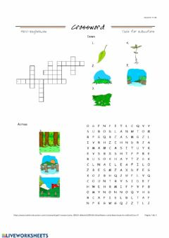 Interactive worksheet Countryside Vocabulary revision