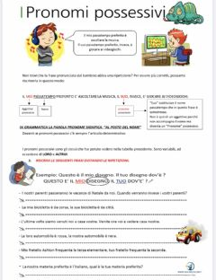 Interactive worksheet Pronomi possessivi II
