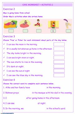 Interactive worksheet Civics - Activities2