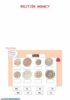 Interactive worksheet British money