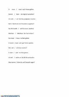 Interactive worksheet Modalverben2