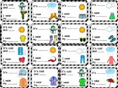 Interactive worksheet Clothes and weather worksheet