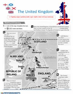 Interactive worksheet The United Kingdom