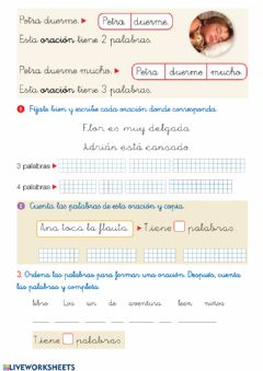 Interactive worksheet Oraciones