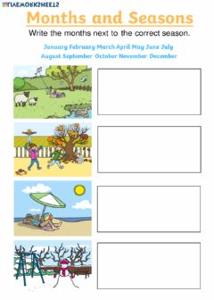 Interactive worksheet Months & Seasons