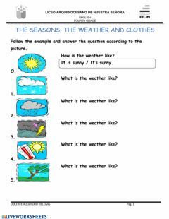 Ficha interactiva What is the weather like?
