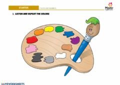Interactive worksheet Colors and numbers