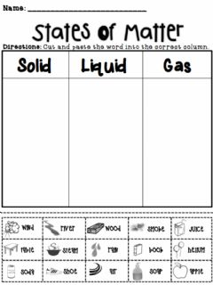 Interactive worksheet Matter Sort