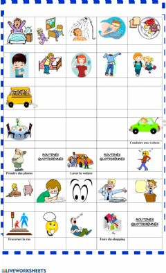 Interactive worksheet Routines quotidiennes