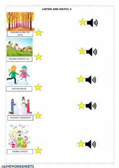 Interactive worksheet Listen and match 2