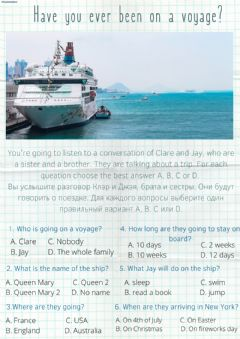 Interactive worksheet Have you ever been on a voyage?