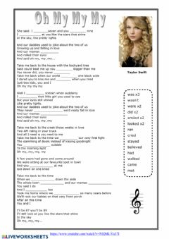 Interactive worksheet Taylor Switf - Oh my my my