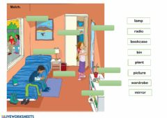 Interactive worksheet Young Explorers 1: My bedroom
