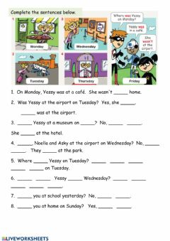 Interactive worksheet Past form of BE
